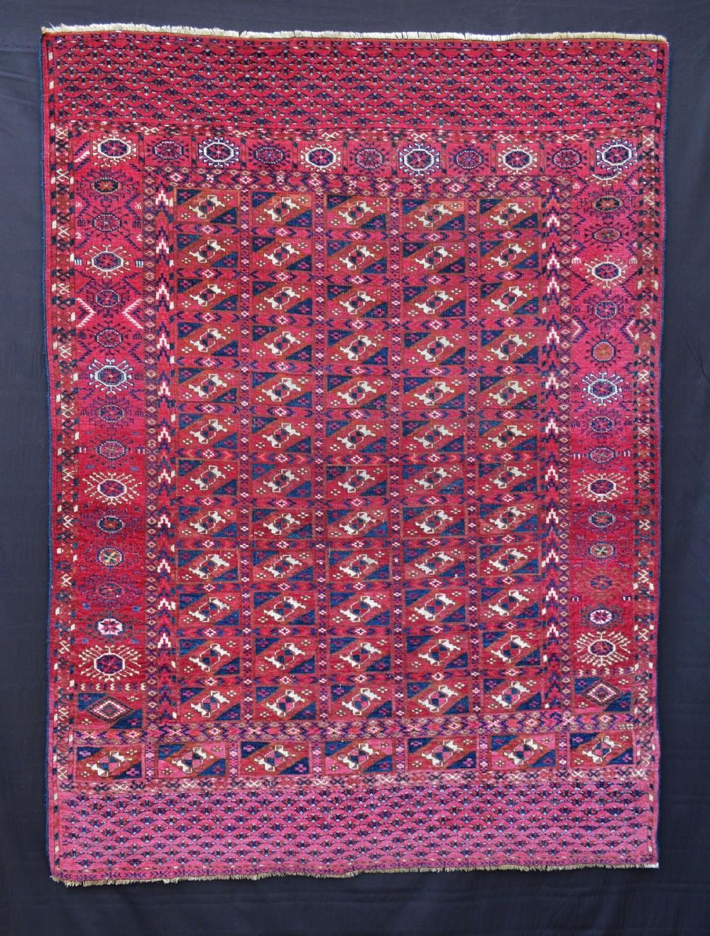 antique turkmen rug teke tribes akhal oasis turkmenistan central asia