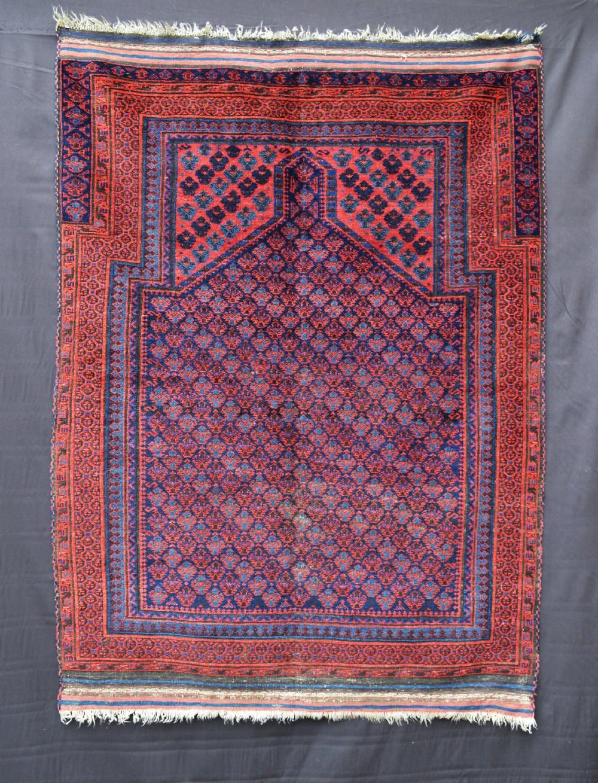 antique prayerrug timuri dokhtareqazi tribe western afghanistan