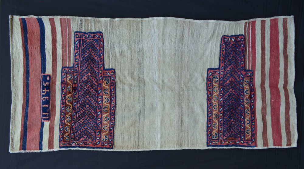antique double 'tasheh' wheat sacks luribakhtiari tribes western persia