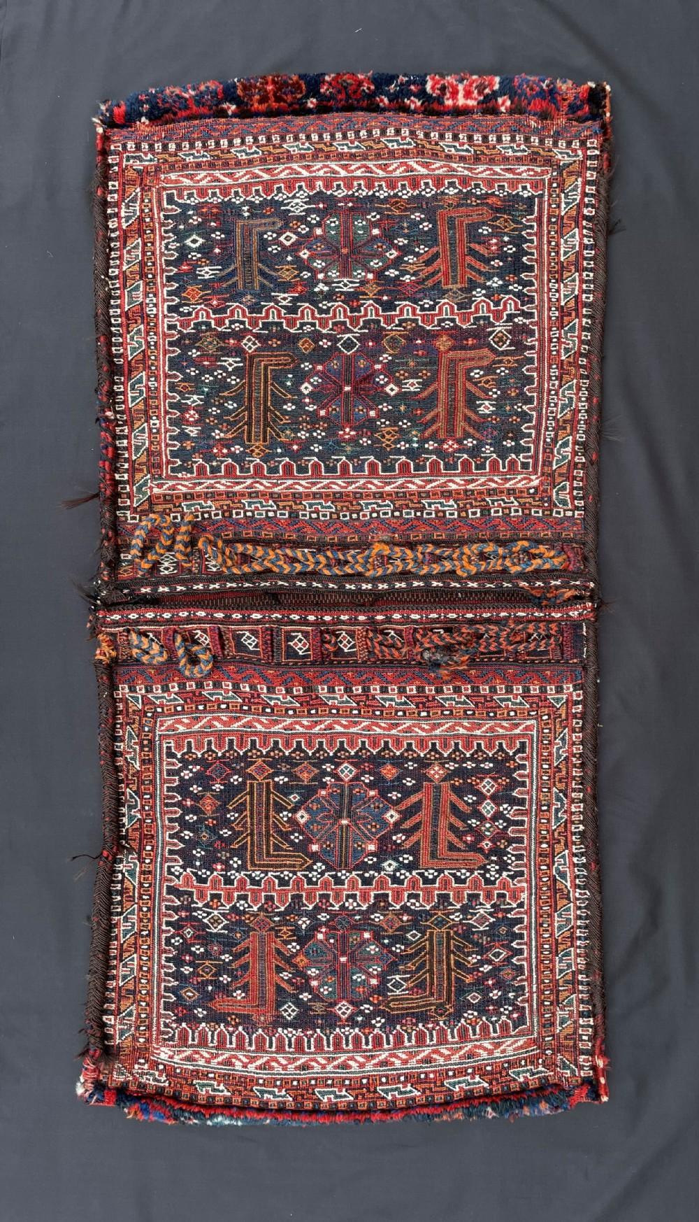 antique khorjin saddlebags bakhtiari tribes the chahar mahal region western persia