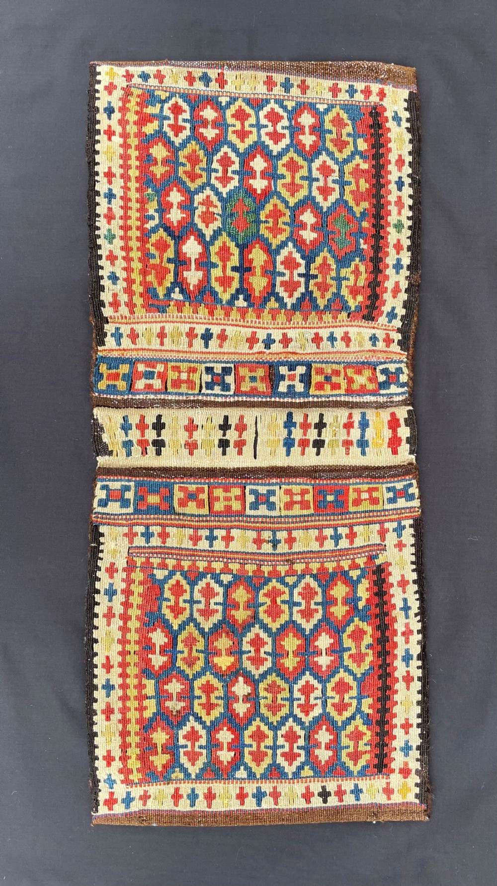 antique mini khorjin saddlebags kordi tribes quchan region khorassan northeast persia