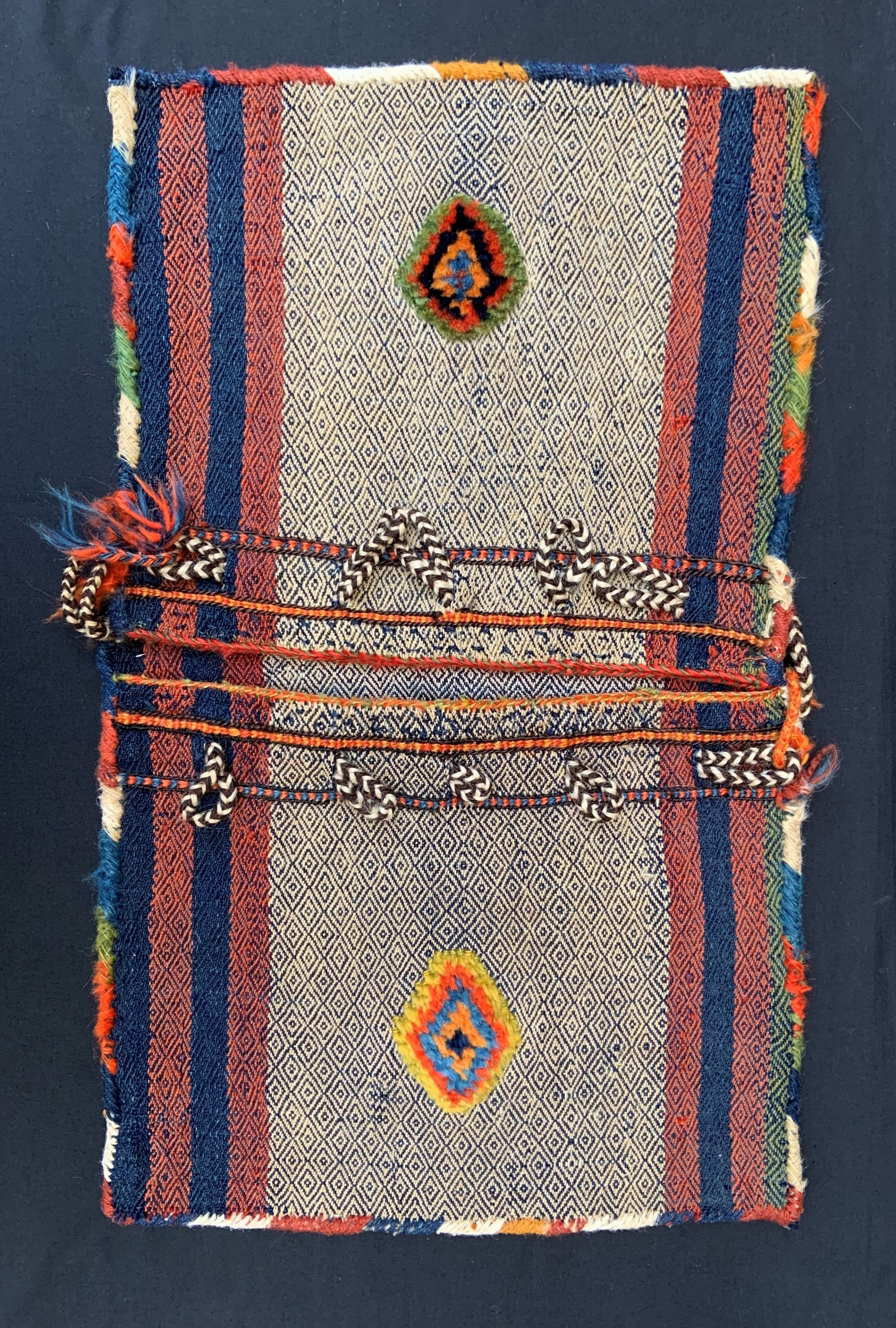 antique mini saddlebags 'khorjin' qashqa'i nomads fars province southwest persia