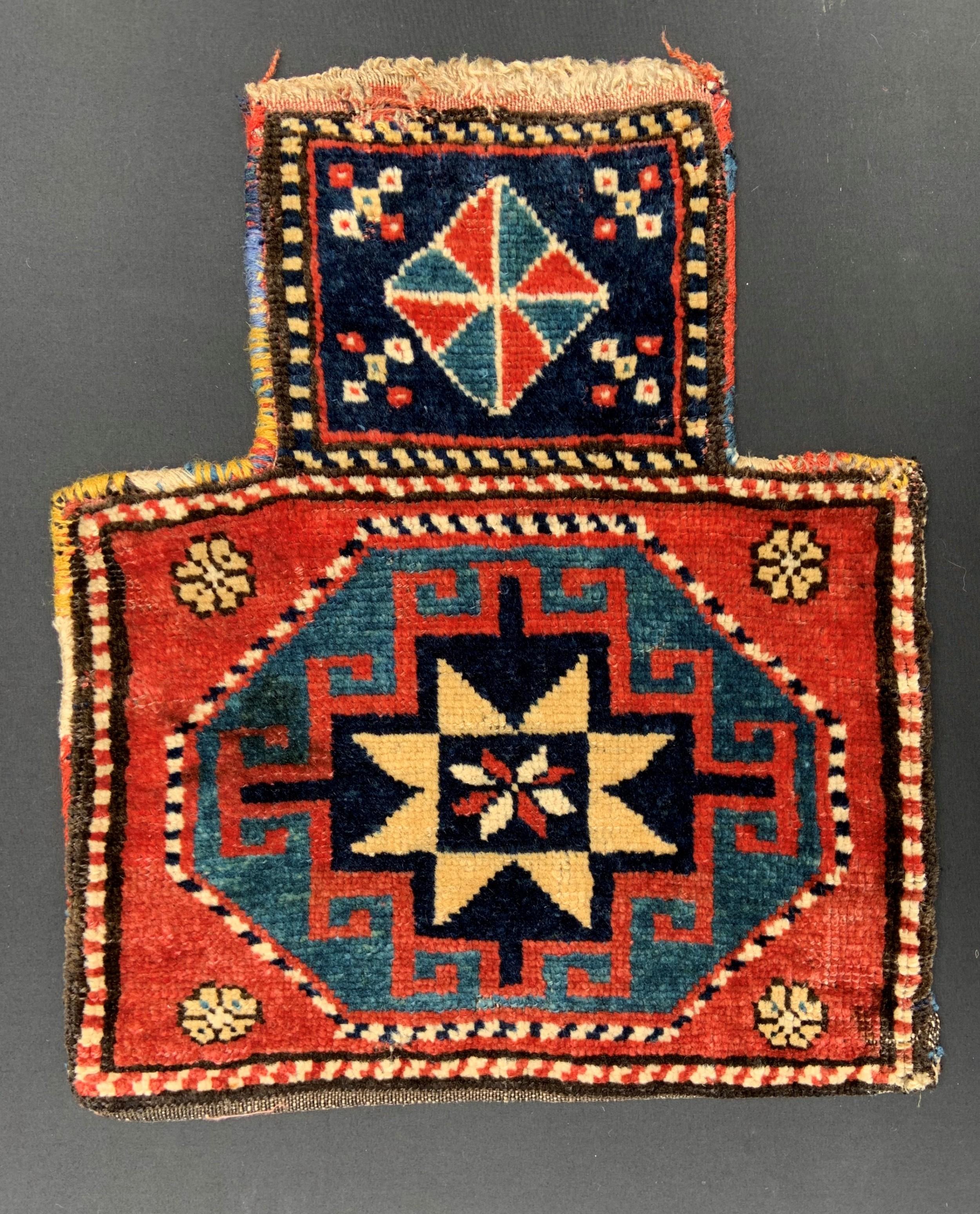 antique saltbag shahsevan nomads moghan region azerbaijan