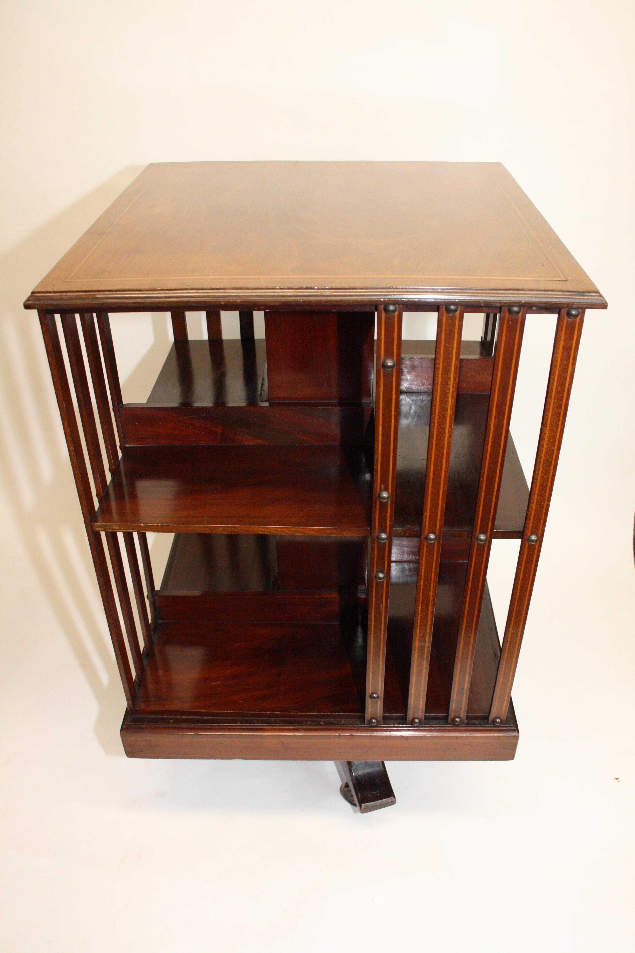 19th century mahogany revolving bookcase