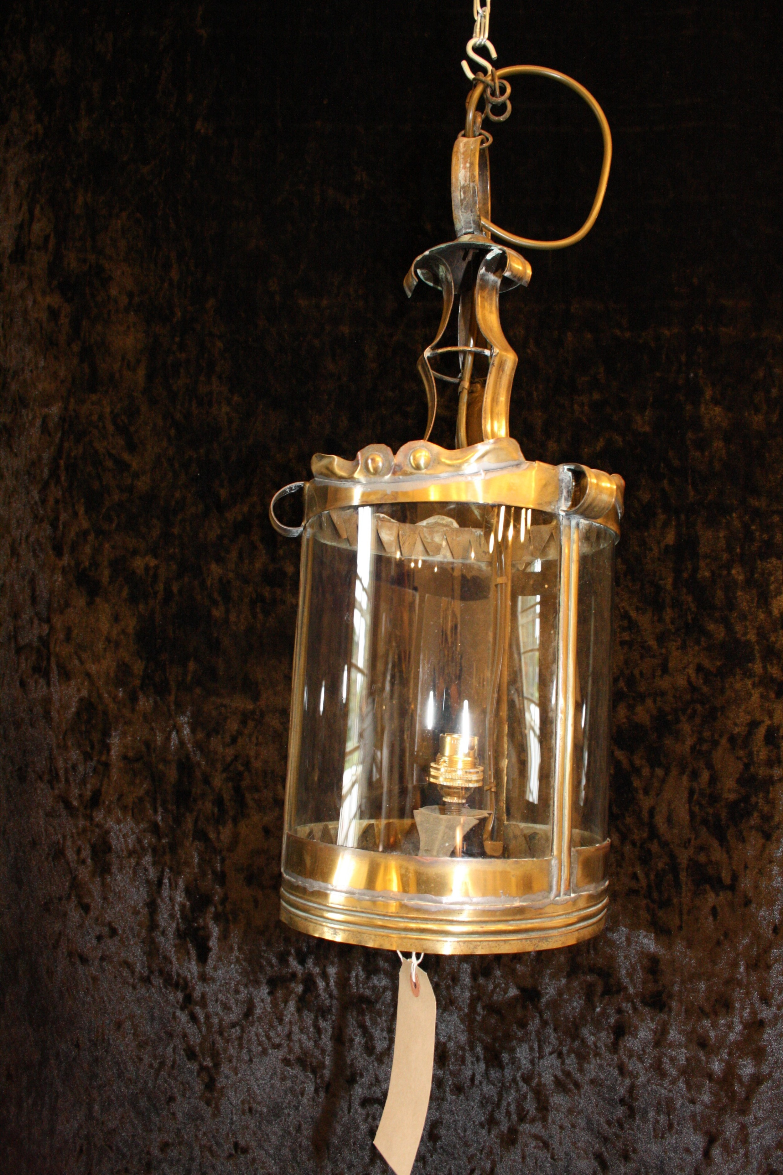 late 19th century french hall lantern in brass