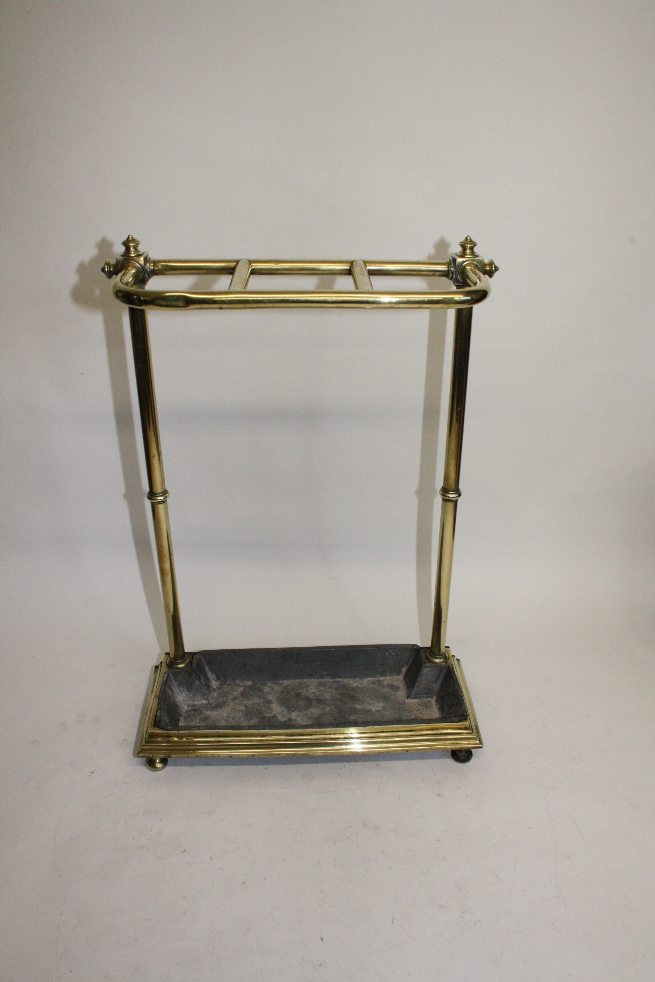 late 19th century sticks stand brass