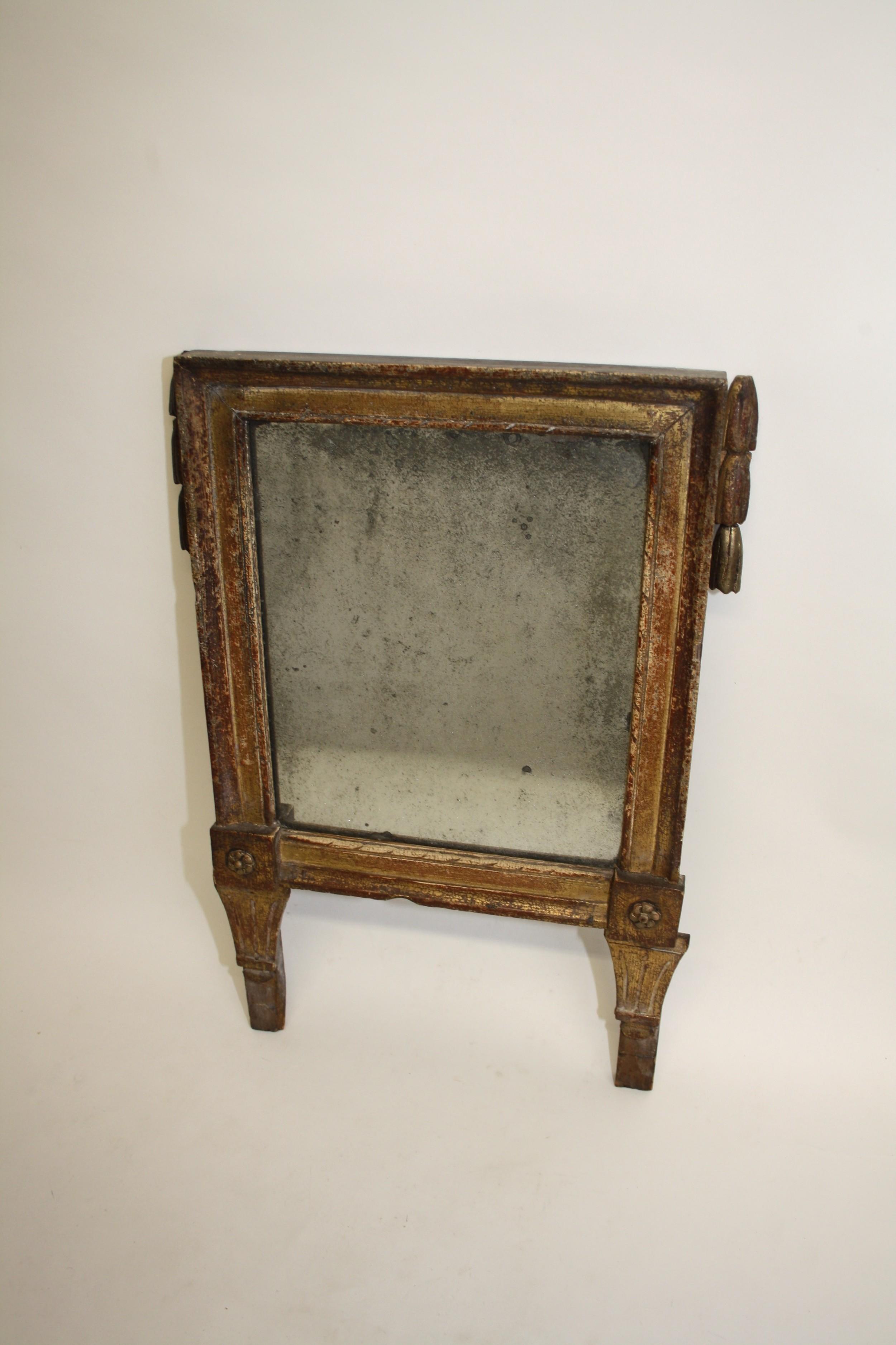 gilt french portrait mirror
