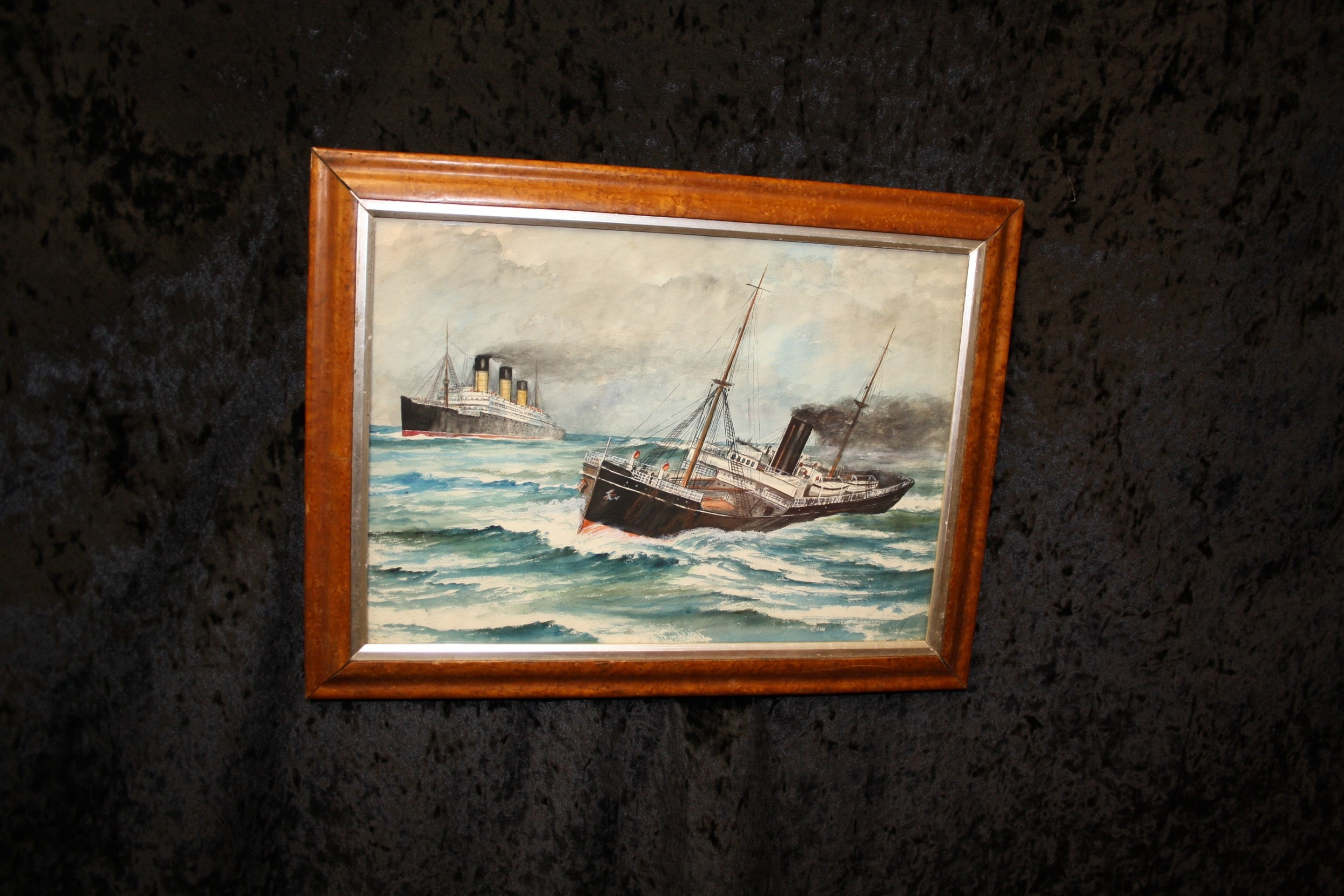c1900 watercolour study of the ss imperator