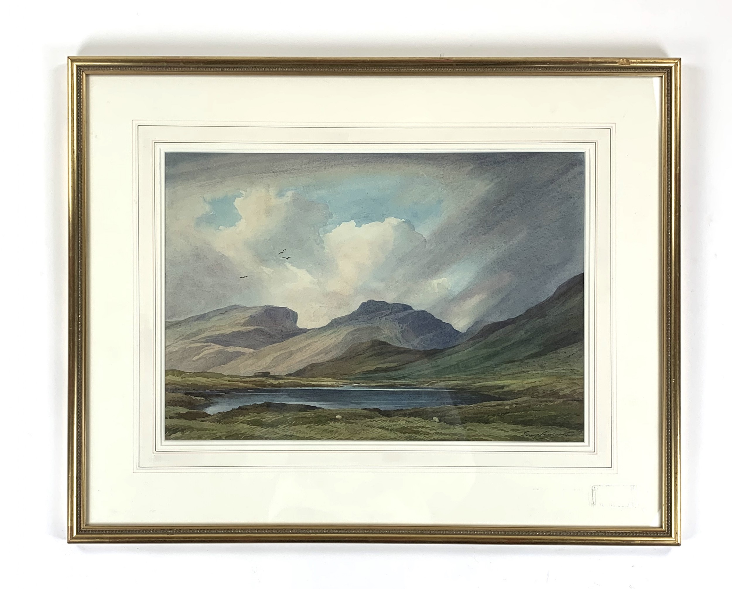 scawfell pikes from three tarns col percy lancaster watercolour