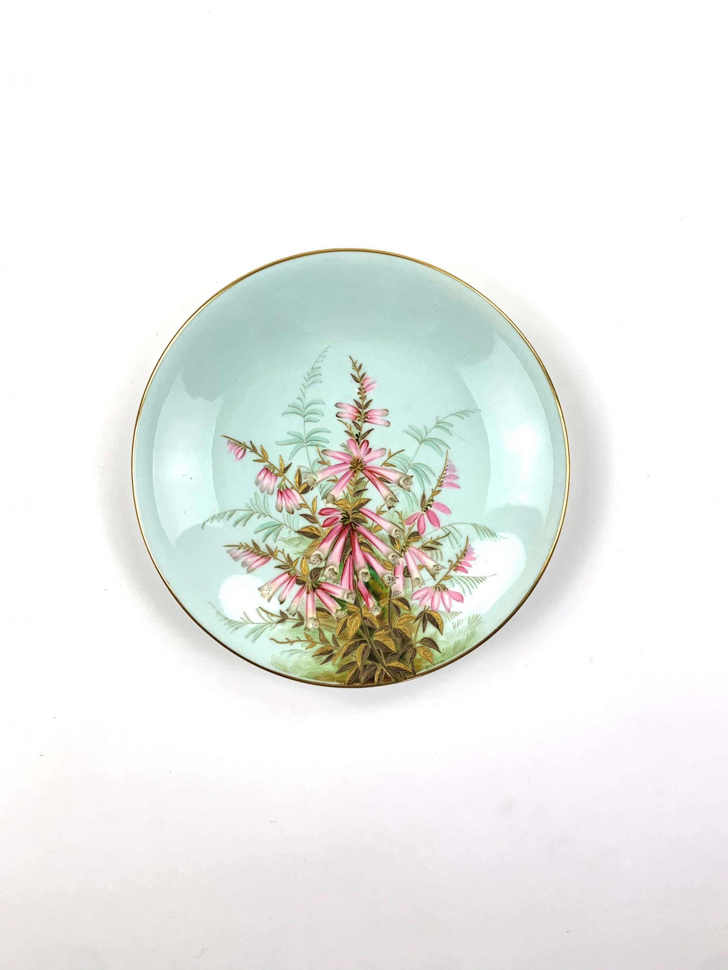 ceramic royal worcester plate 1883 hand painted by george hundley