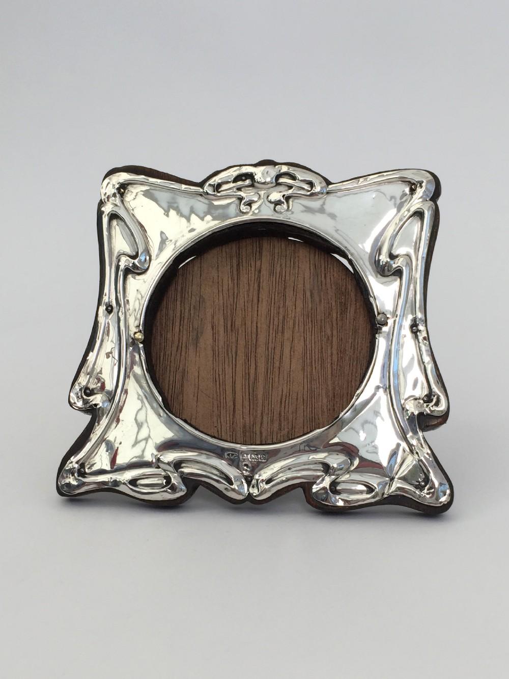antique art nouveau silver picture photo frame