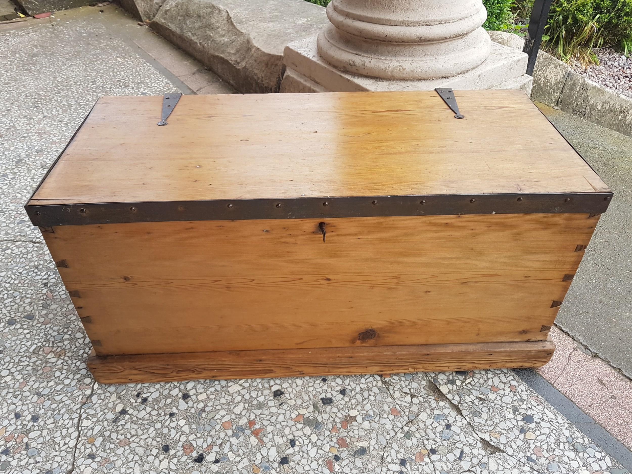 Antique Pine Blanket Box Chest 632426 Sellingantiques Co Uk