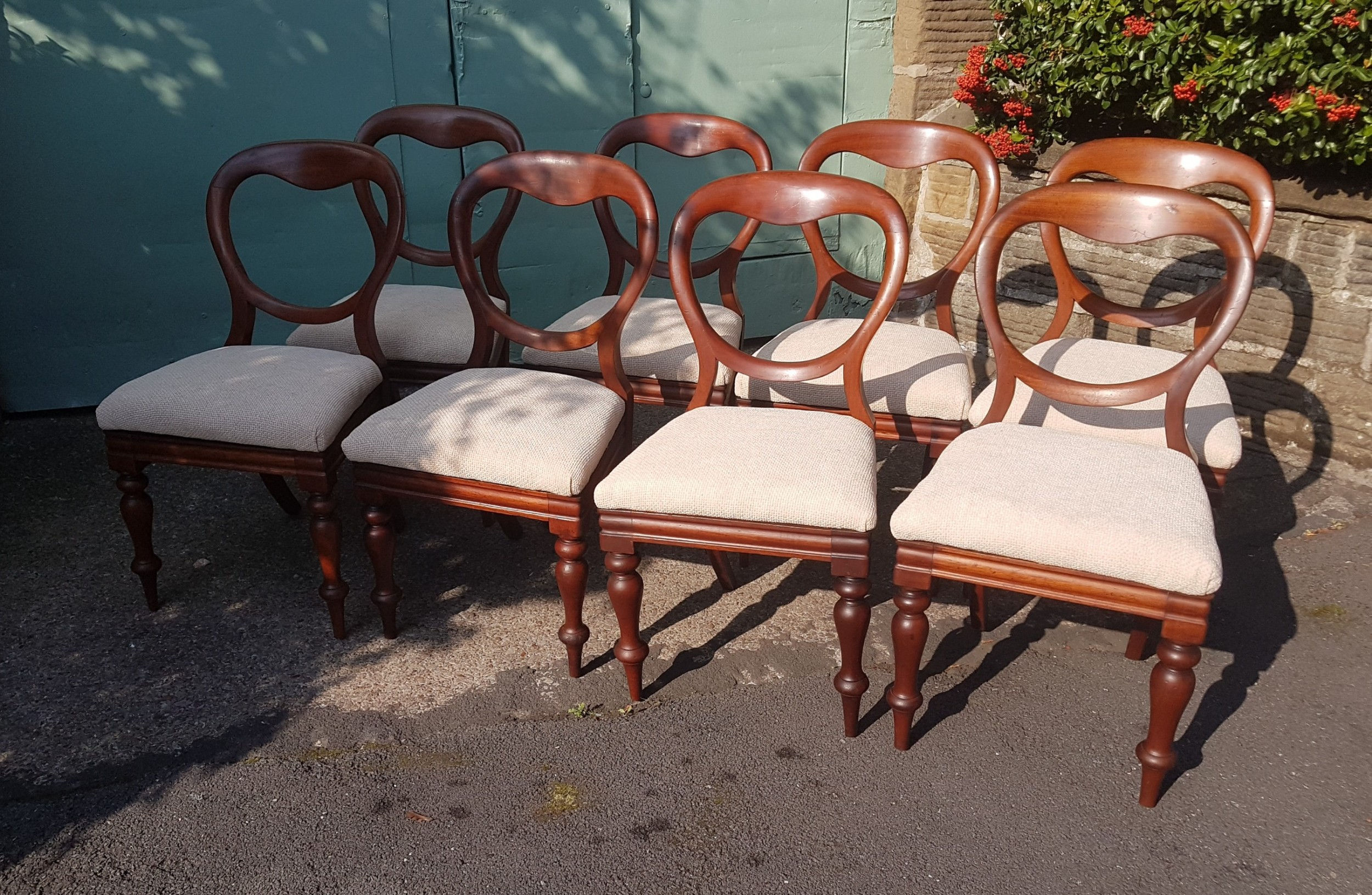set of eight victorian chairs