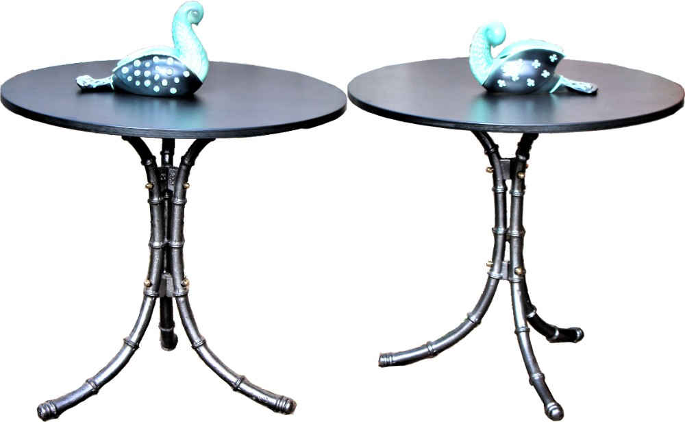 pair of victorian cast iron tables