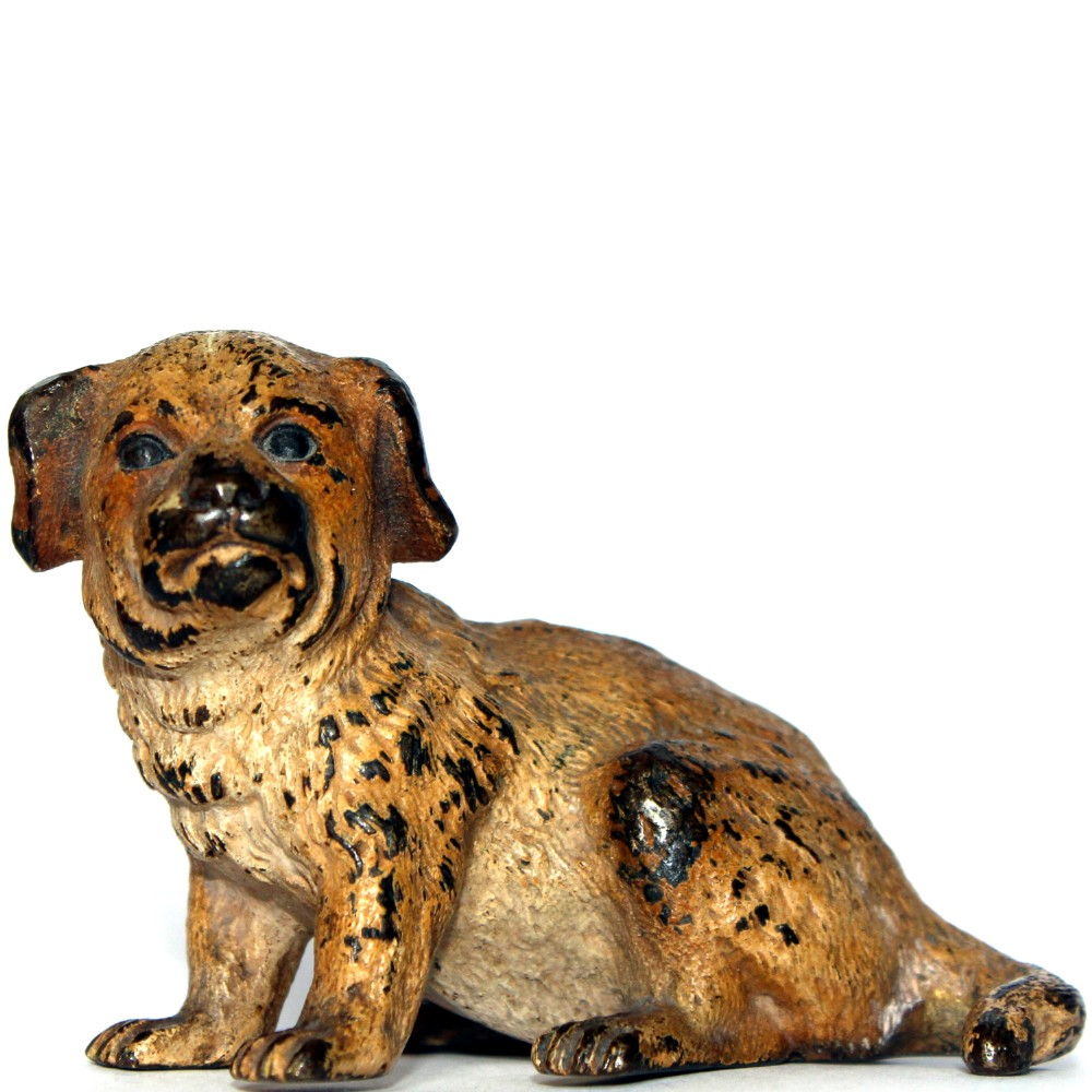 cold painted bronze puppy dog