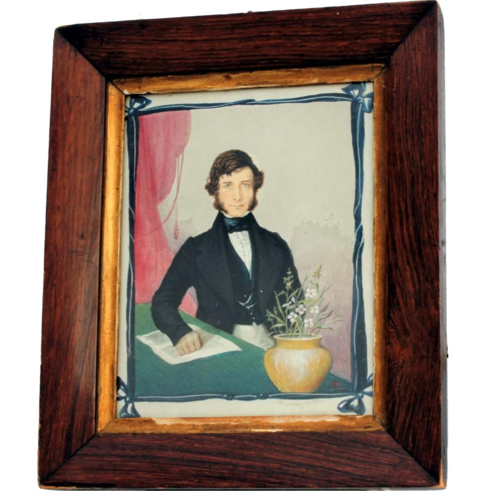 naive portrait of a gentleman