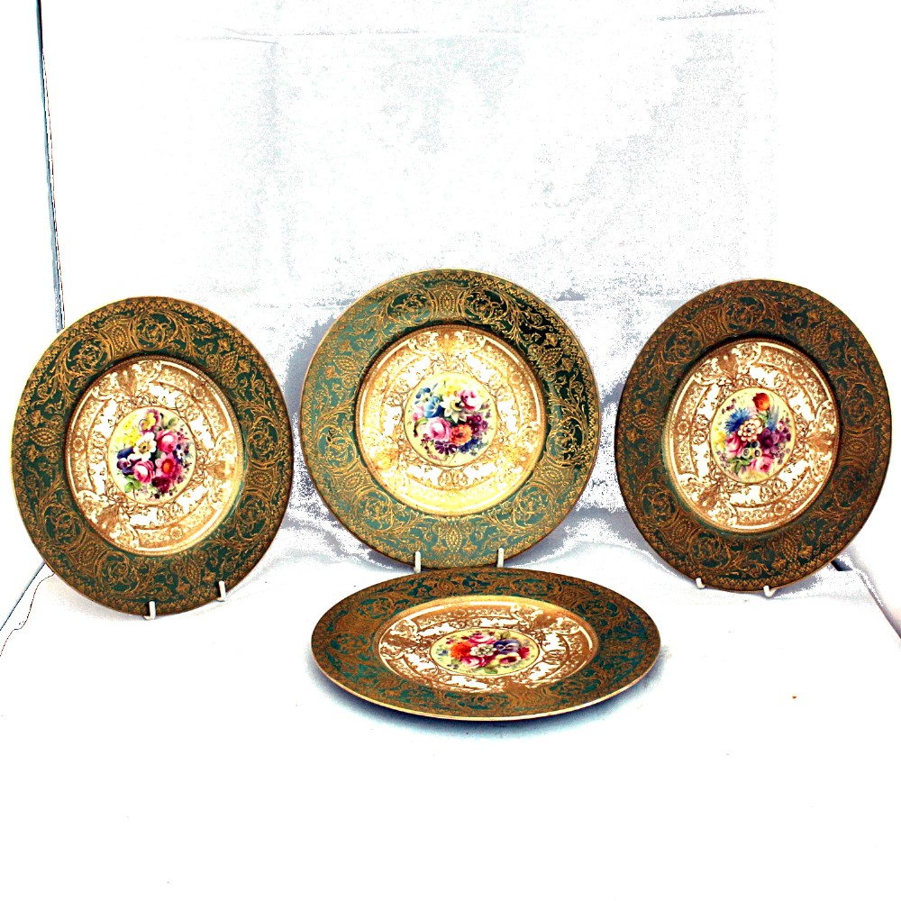 four royal worcester cabinet plates