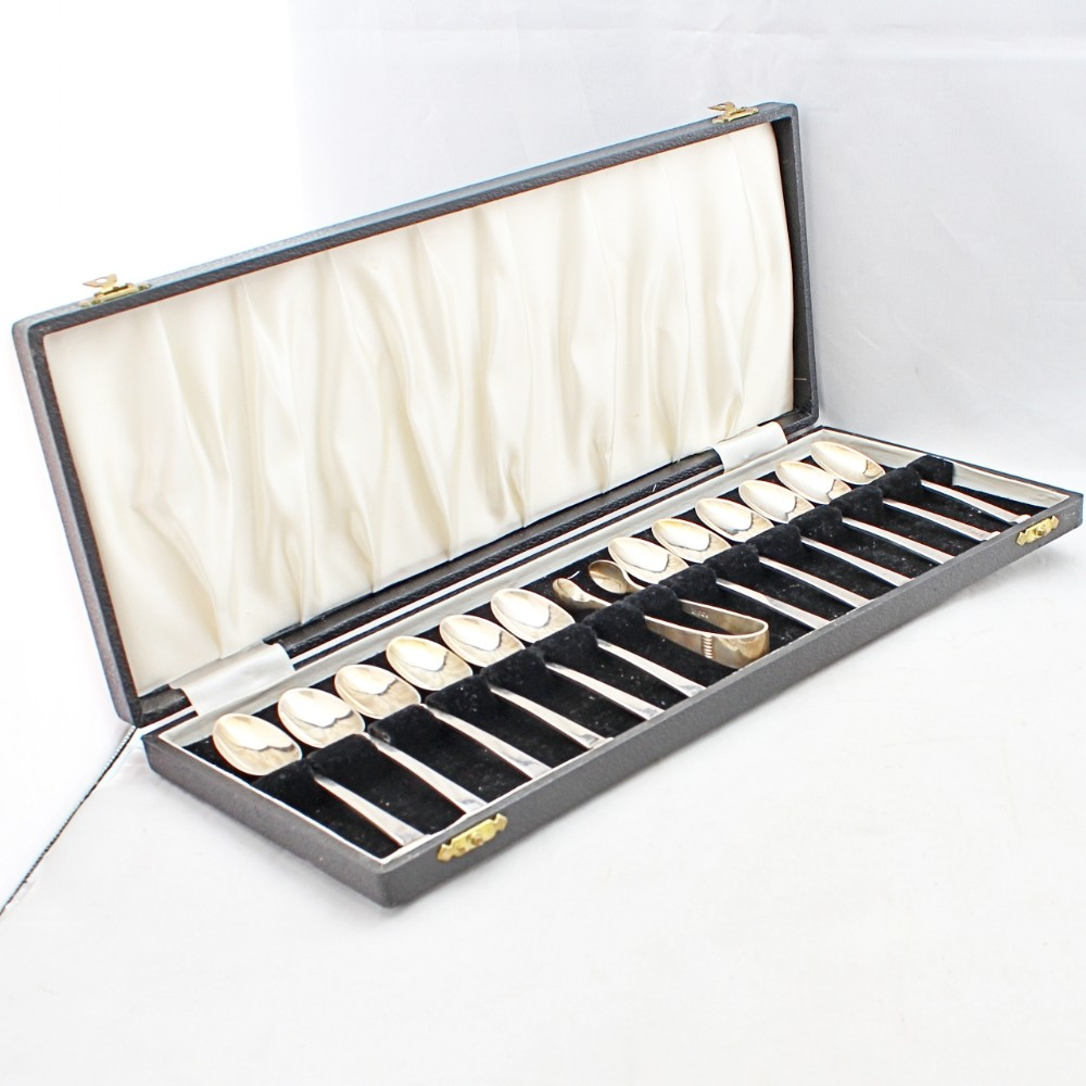 art deco cased spoons