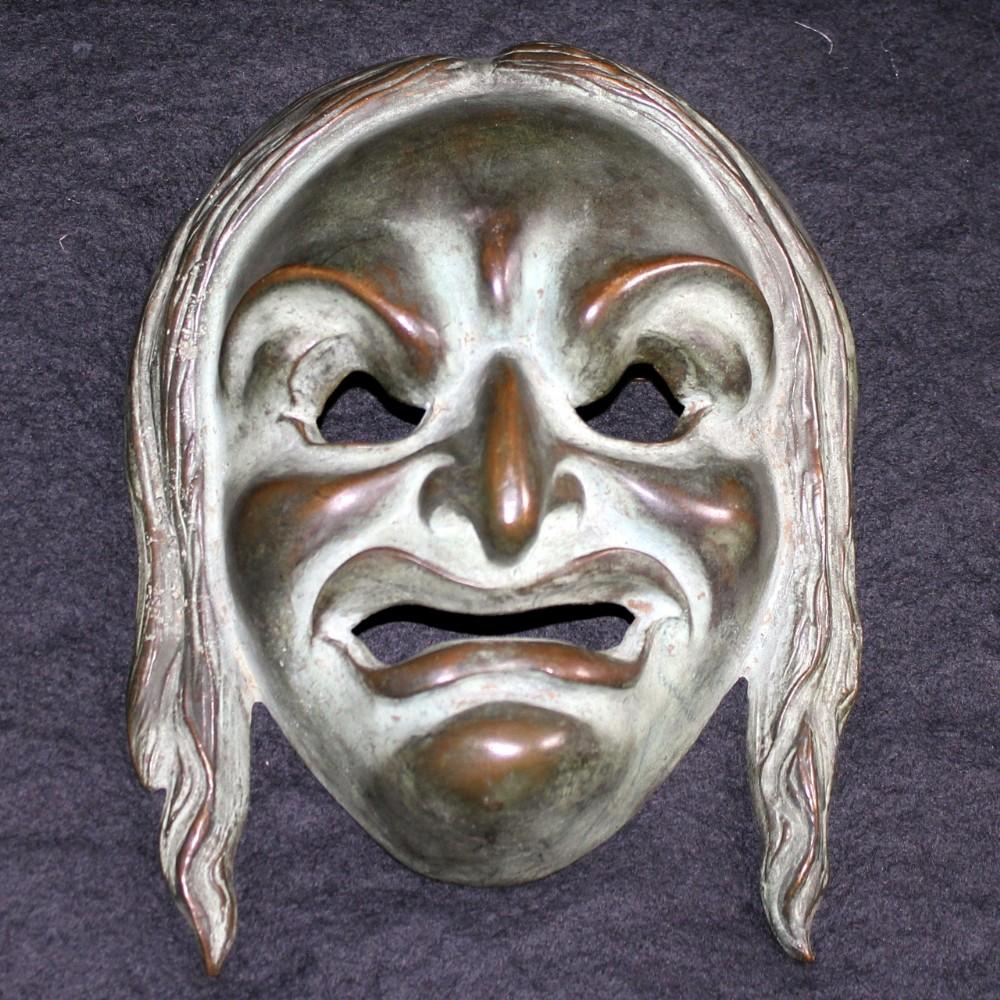 bronze wall mask