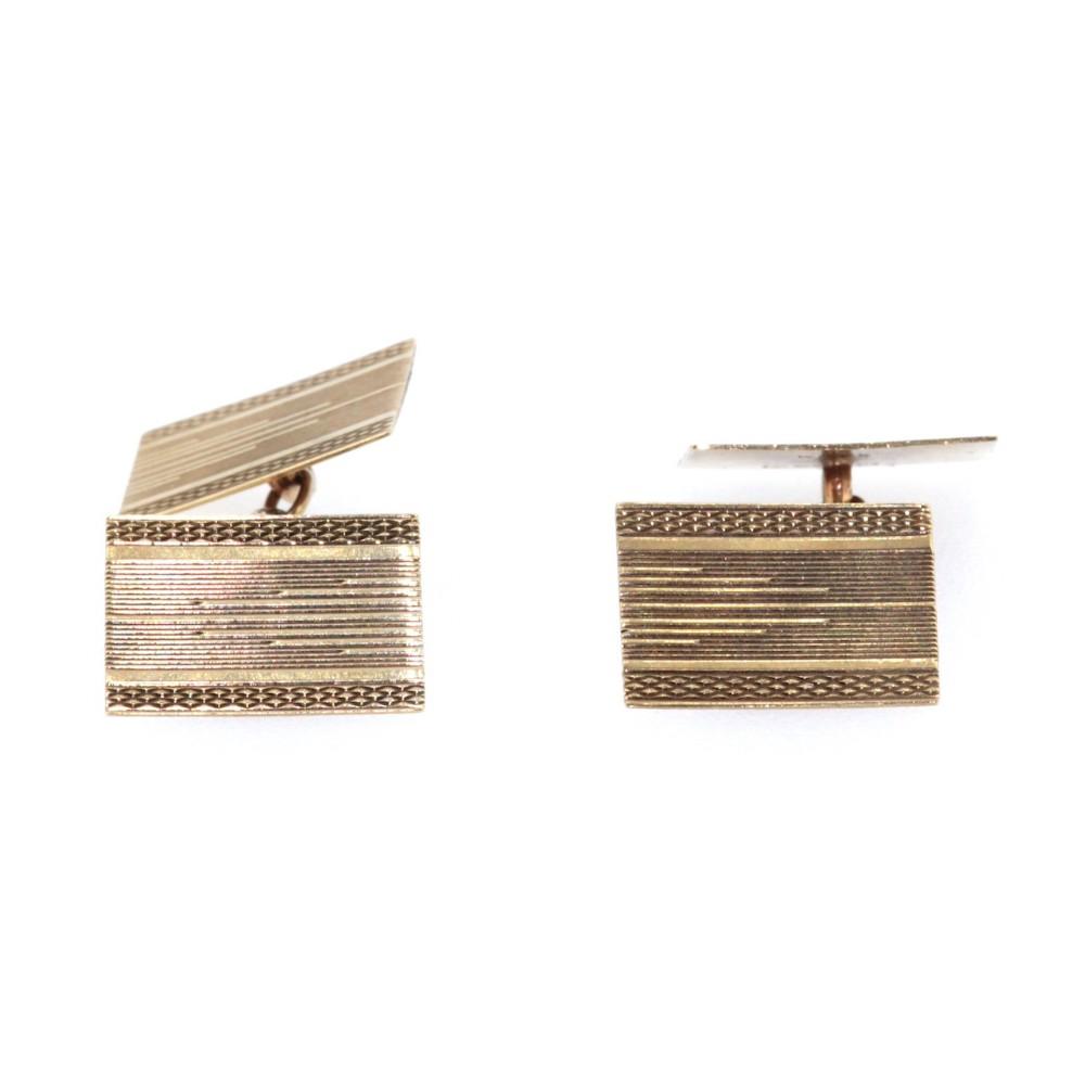 artdeco 9ct gold cufflinks