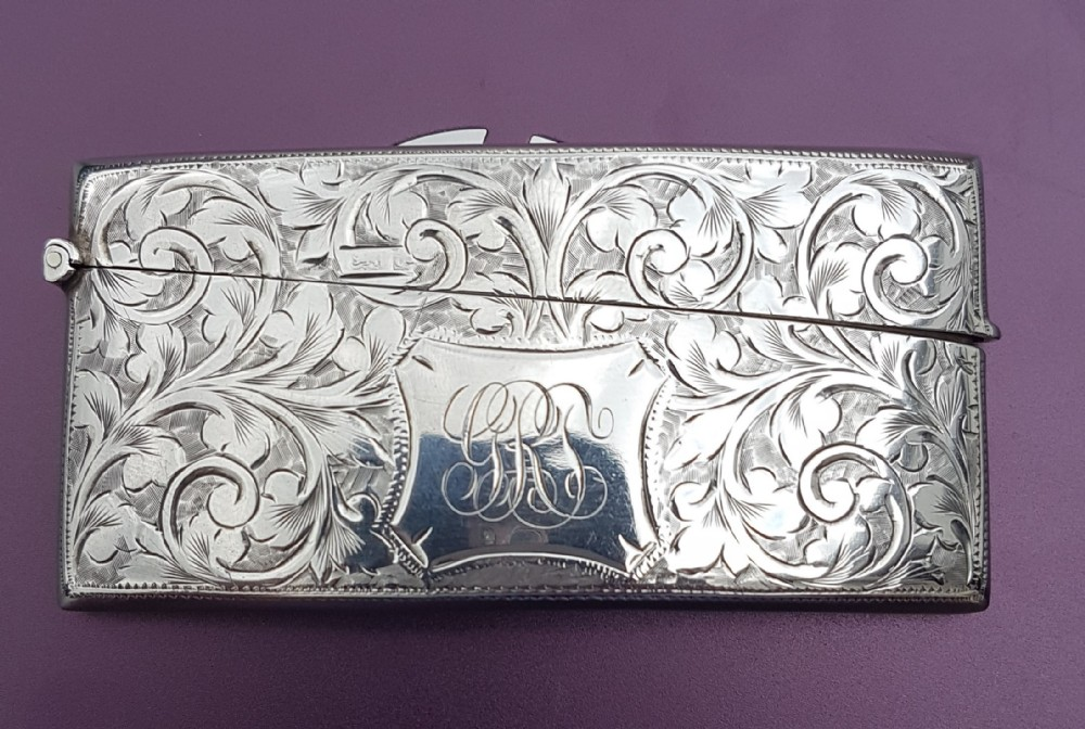 solid silver curved card case