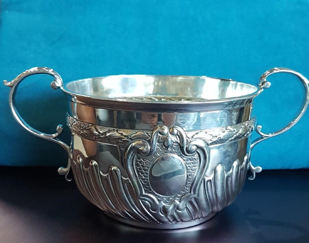 solid silver porringer