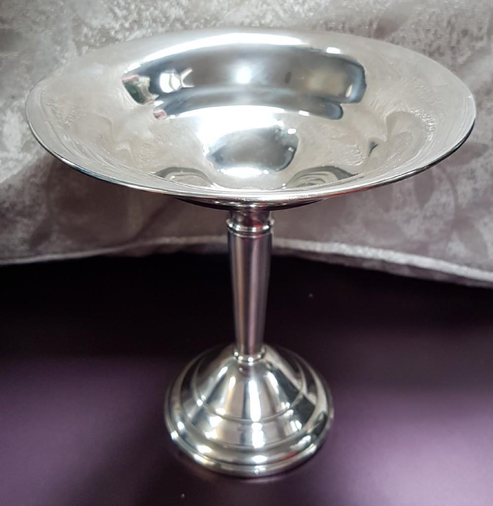 sterling silver bon bon dish on pedestal