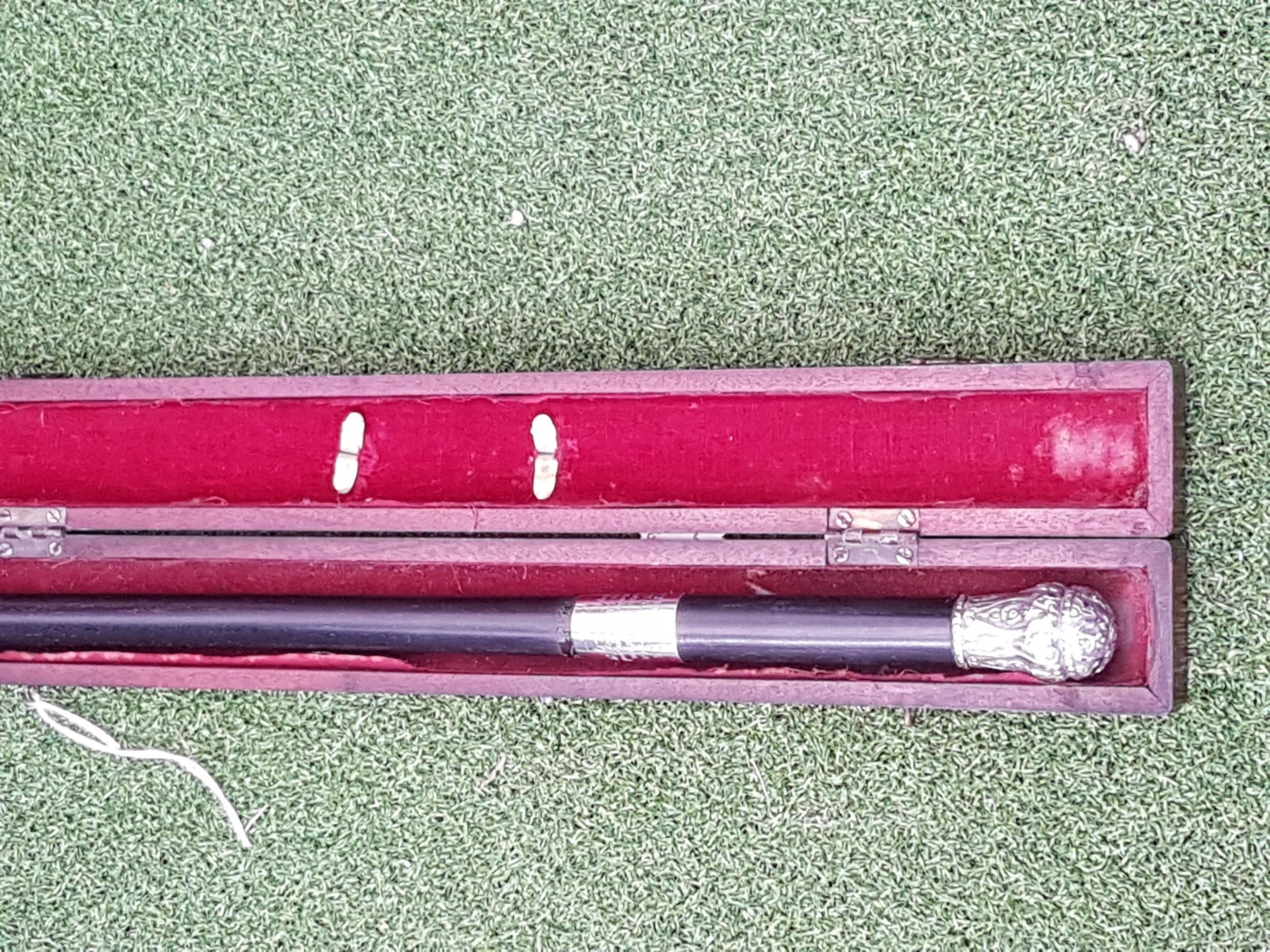 antique silver presentation baton