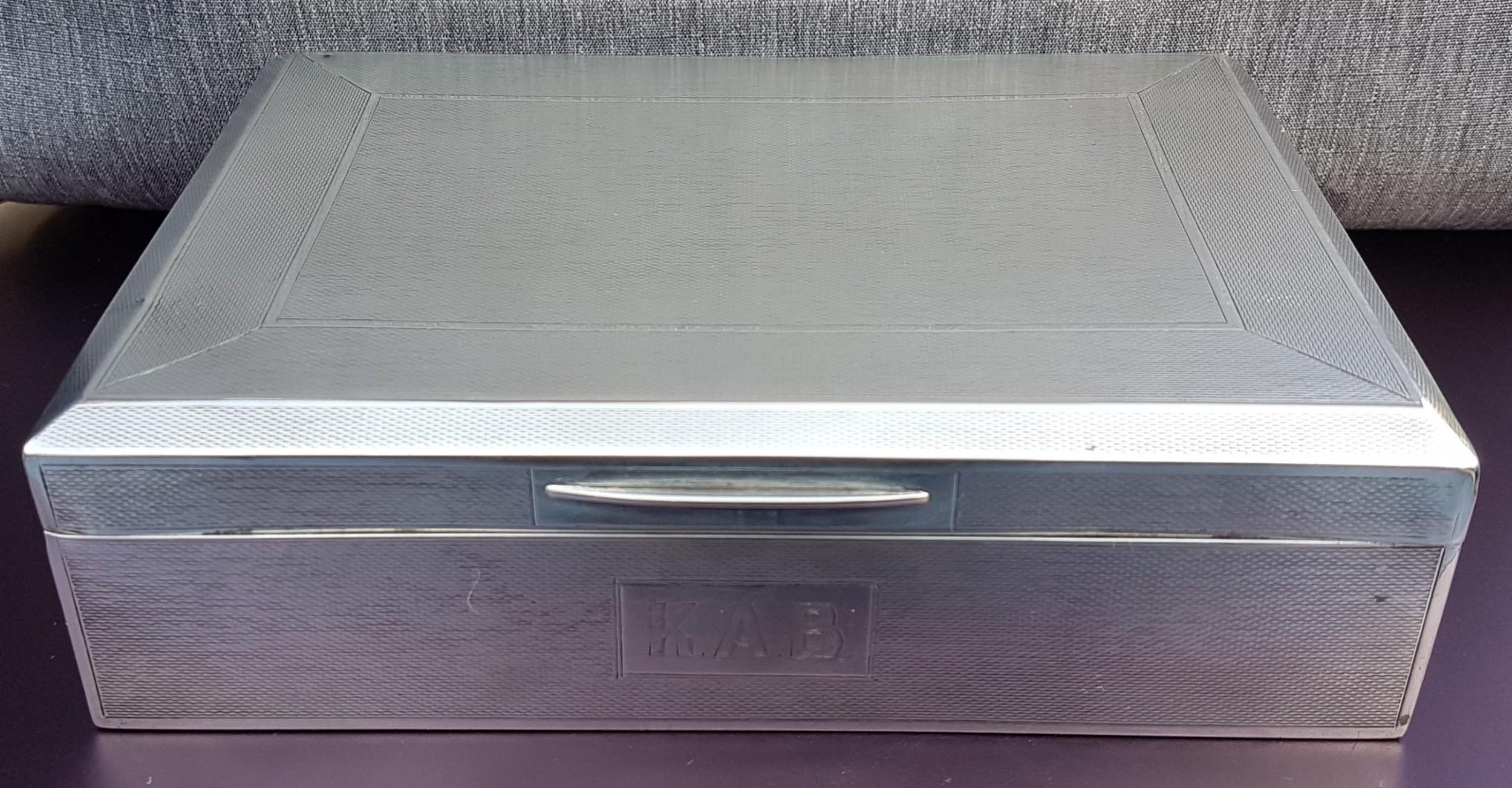 sterling silver cigarettecigar box