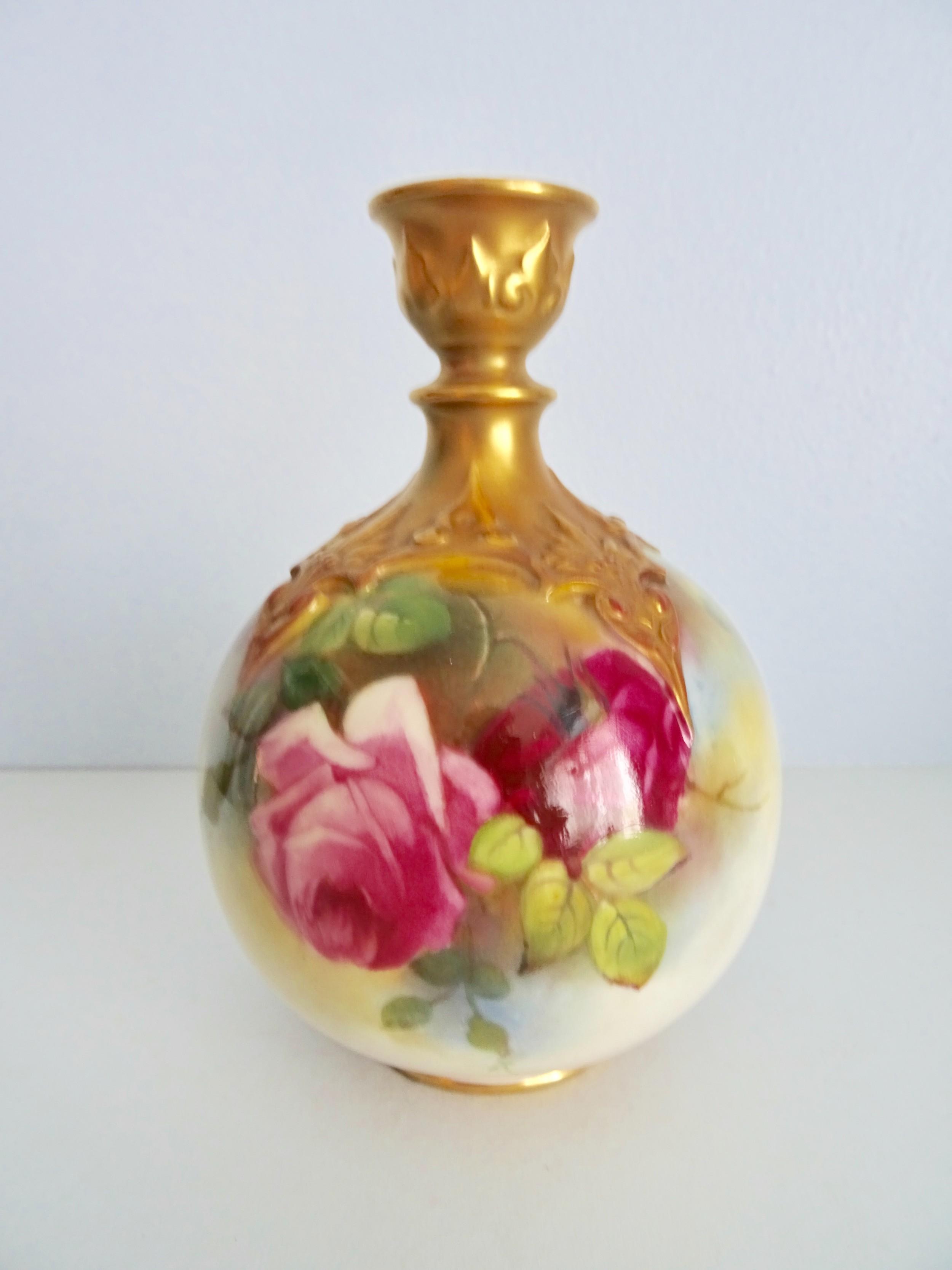 royal worcester rose vase