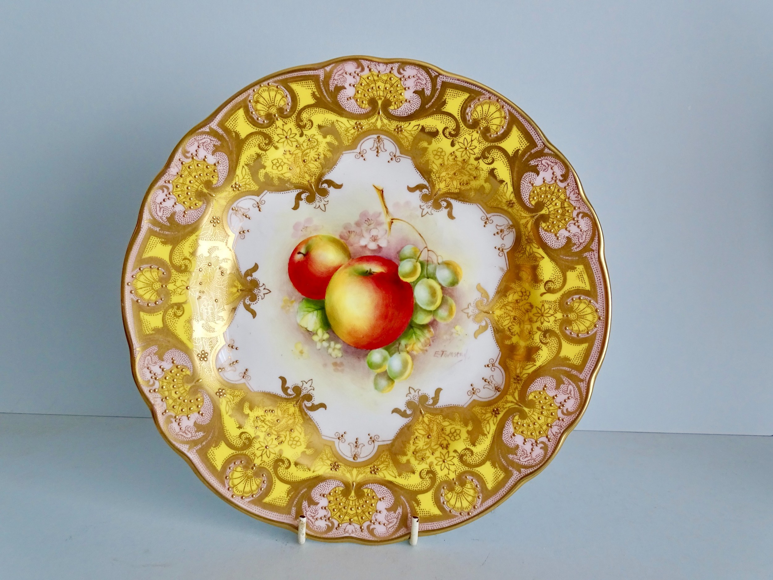 royal worcester fruit plate