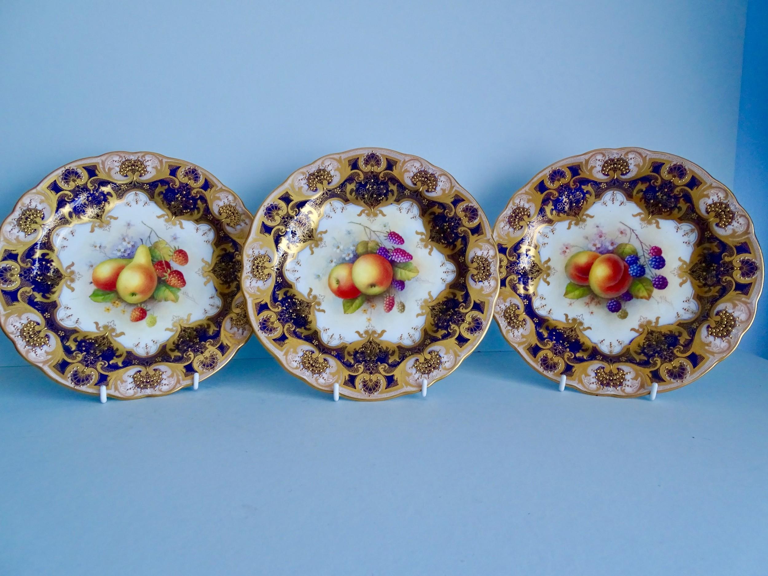 royal worcester set of six fruit plates