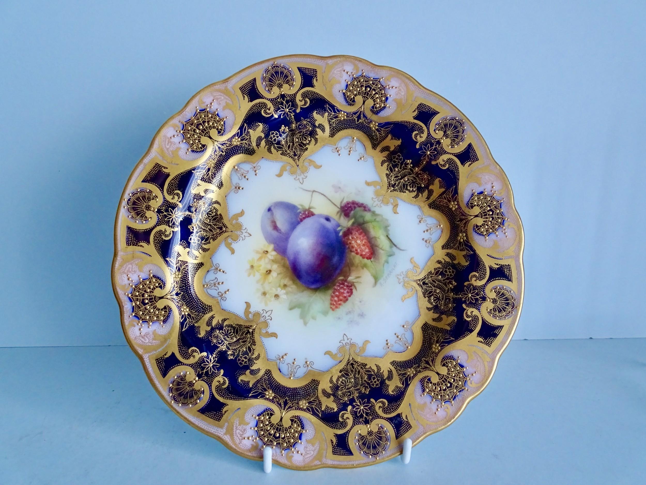 royal worcester sebright fruit plate