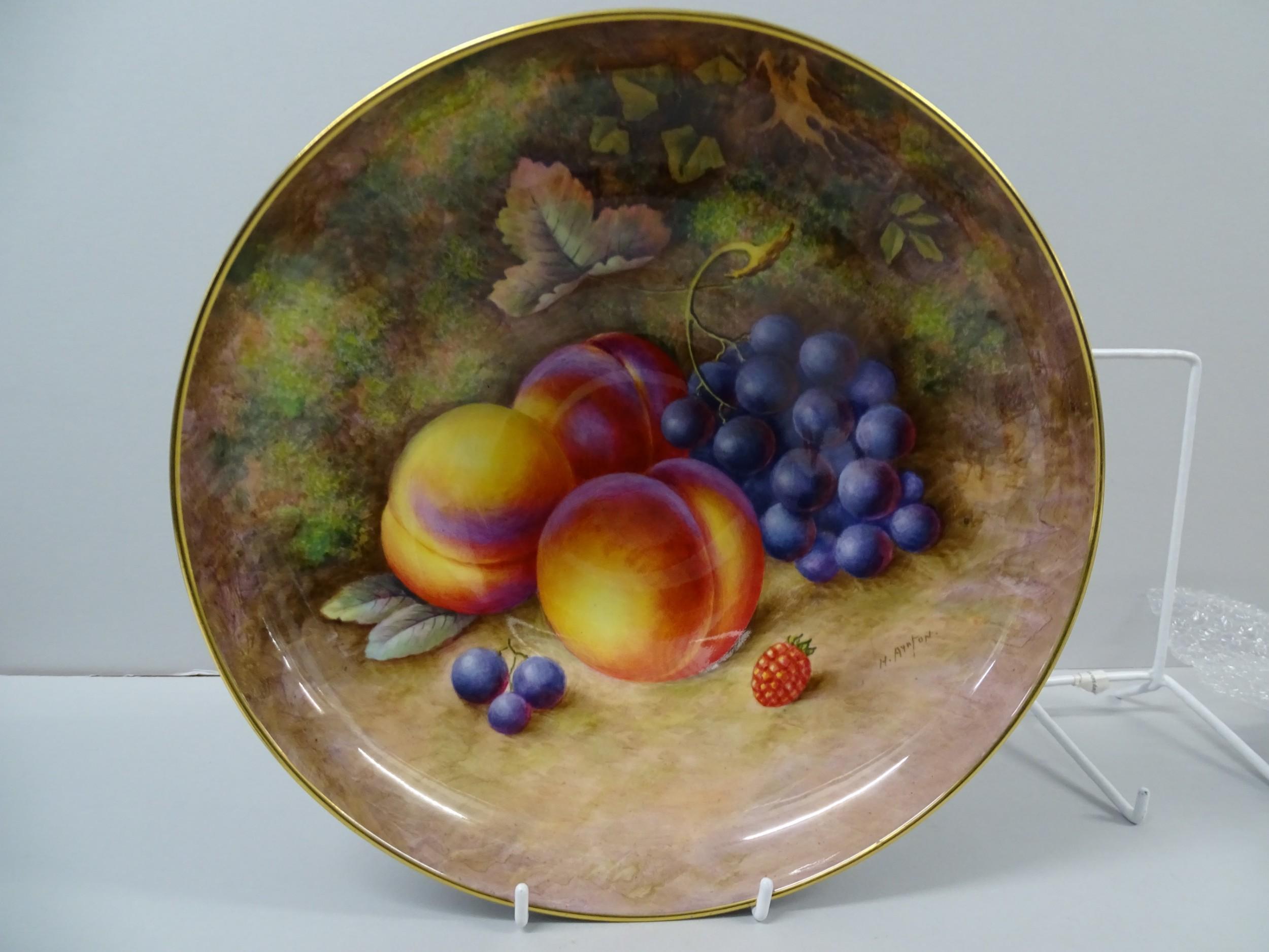 royal worcester fruit lotus bowl