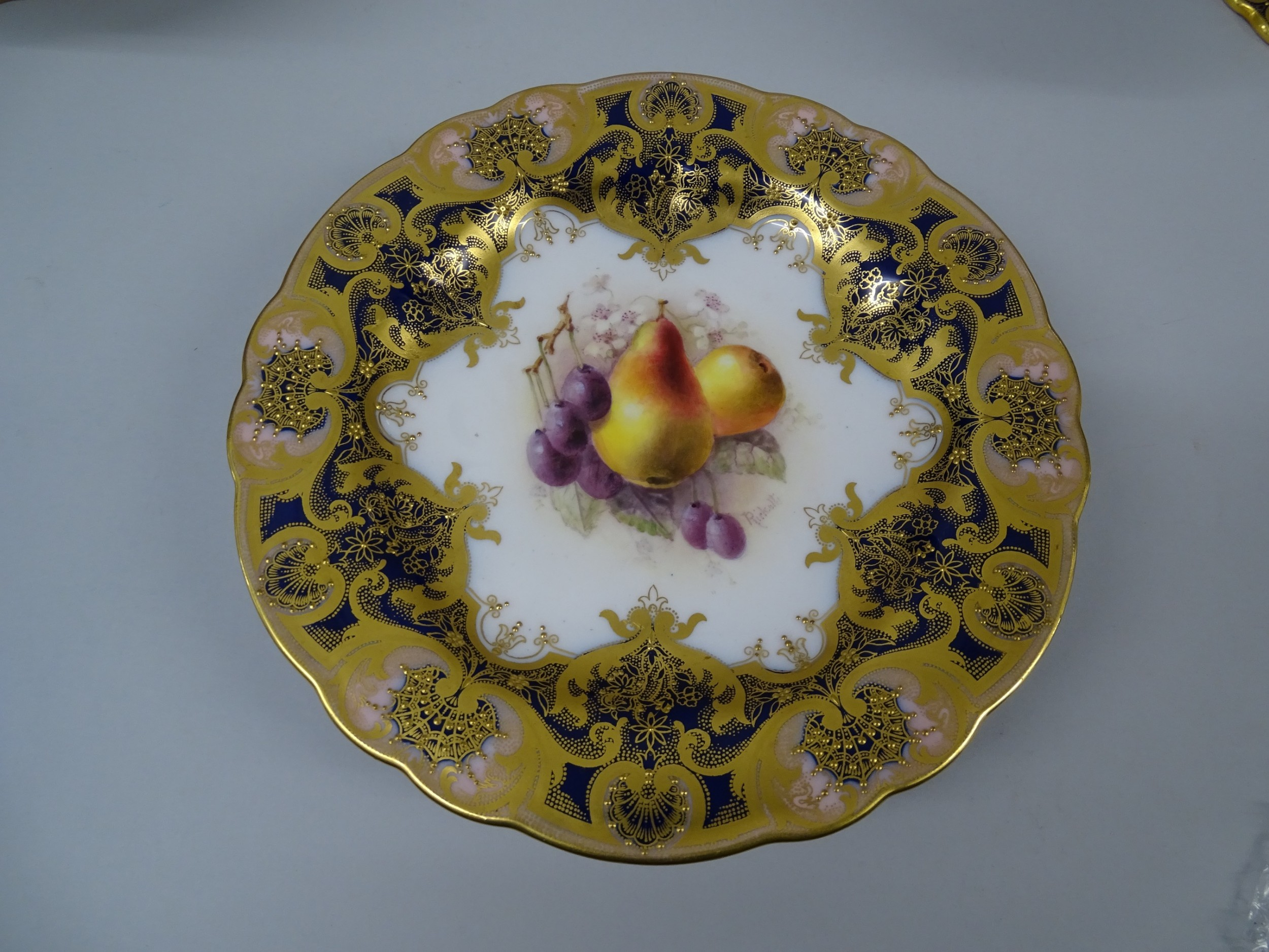 royal worcester fruit low comport