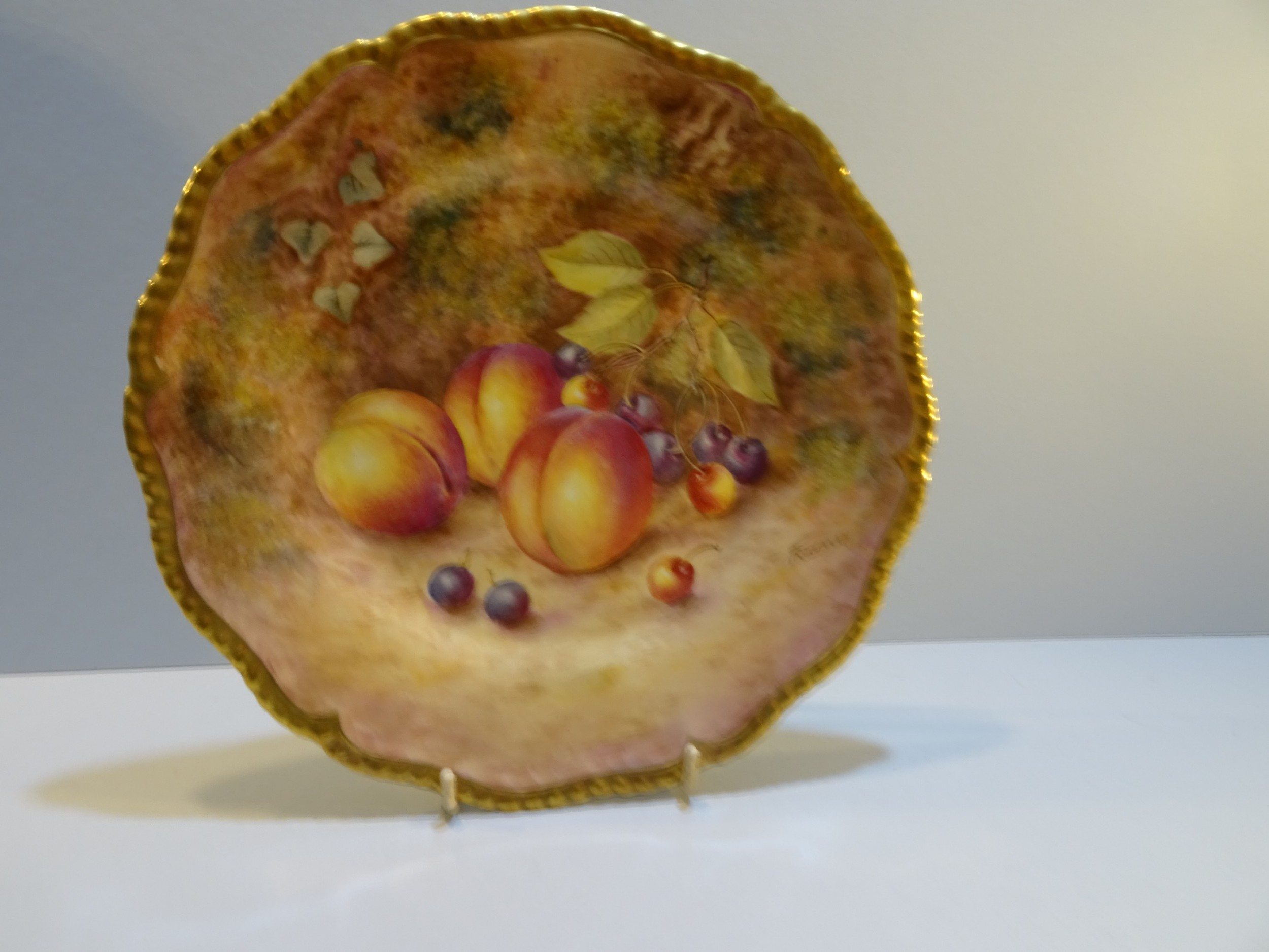 royal worcester fruit plate by freeman