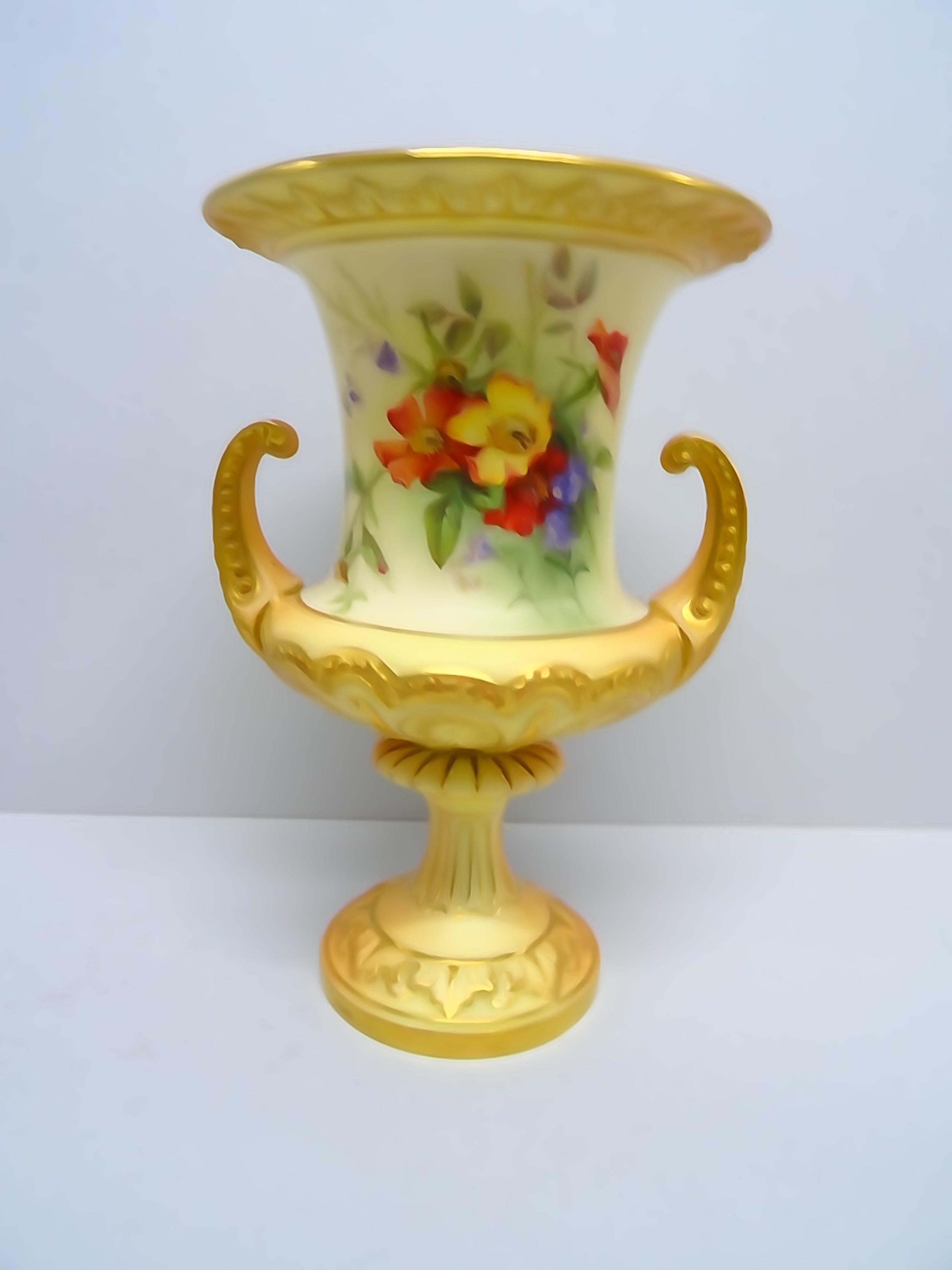 royal worcester blush vase