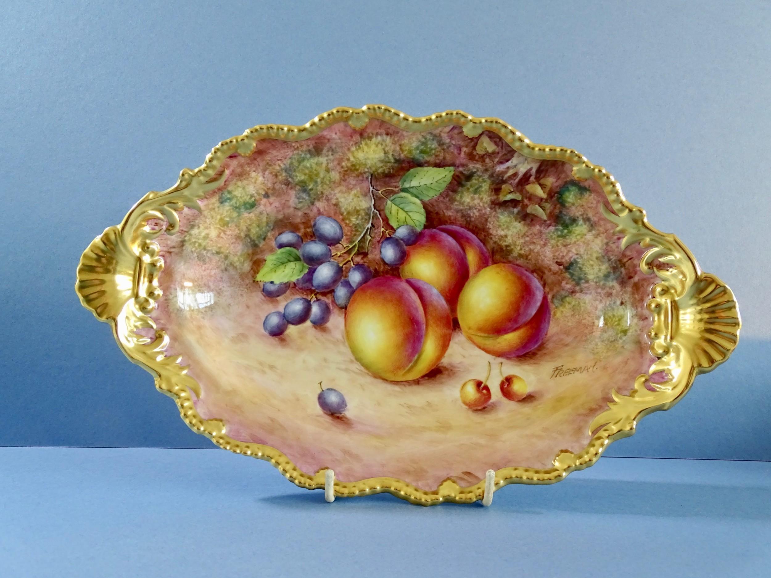 royal worcester freeman oval tudor tray