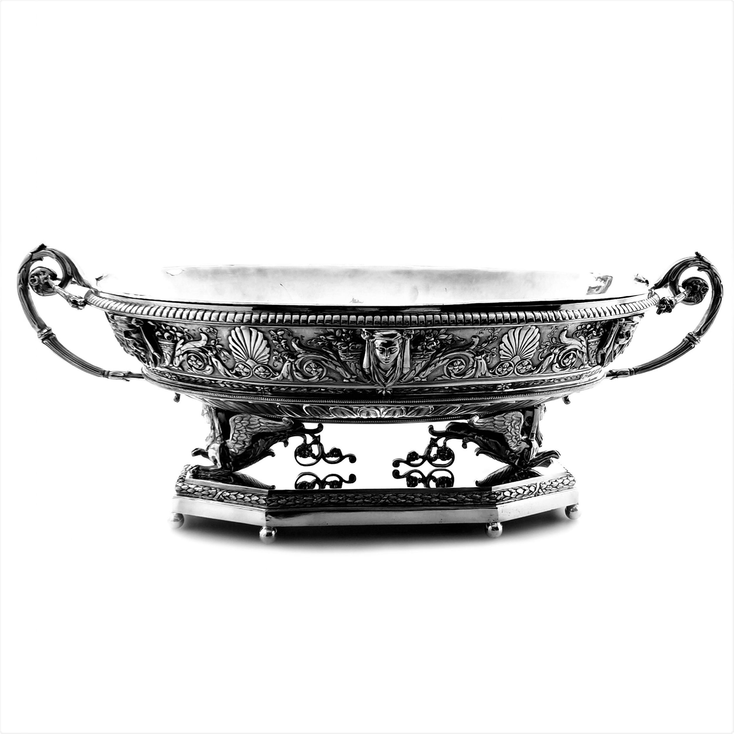 french large silver jardinire centrepiece bowl circa 1890 1st grade silver
