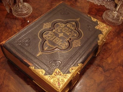 Vintage Leather Look Jeremiah Verse Bible Book Cover Large: Serpentine Antiques