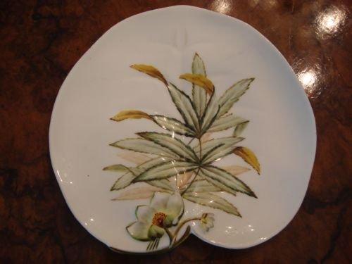circa 1873 wonderful george jones hand painted leaf plate