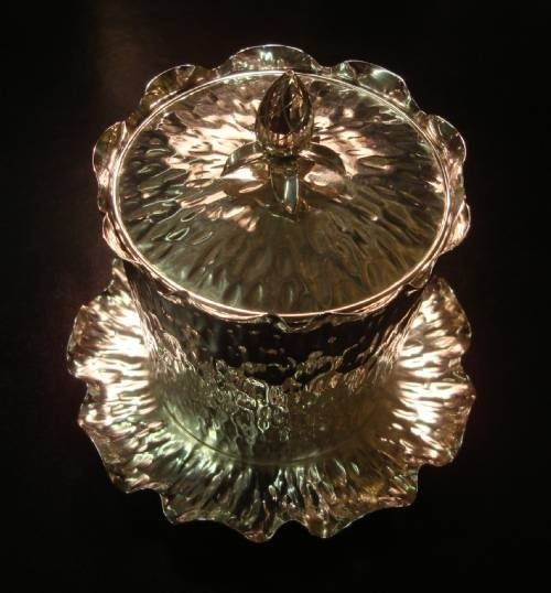 19th century victorian superb silver plate biscuit barrel by famed makers hukin and heath - photo angle #2