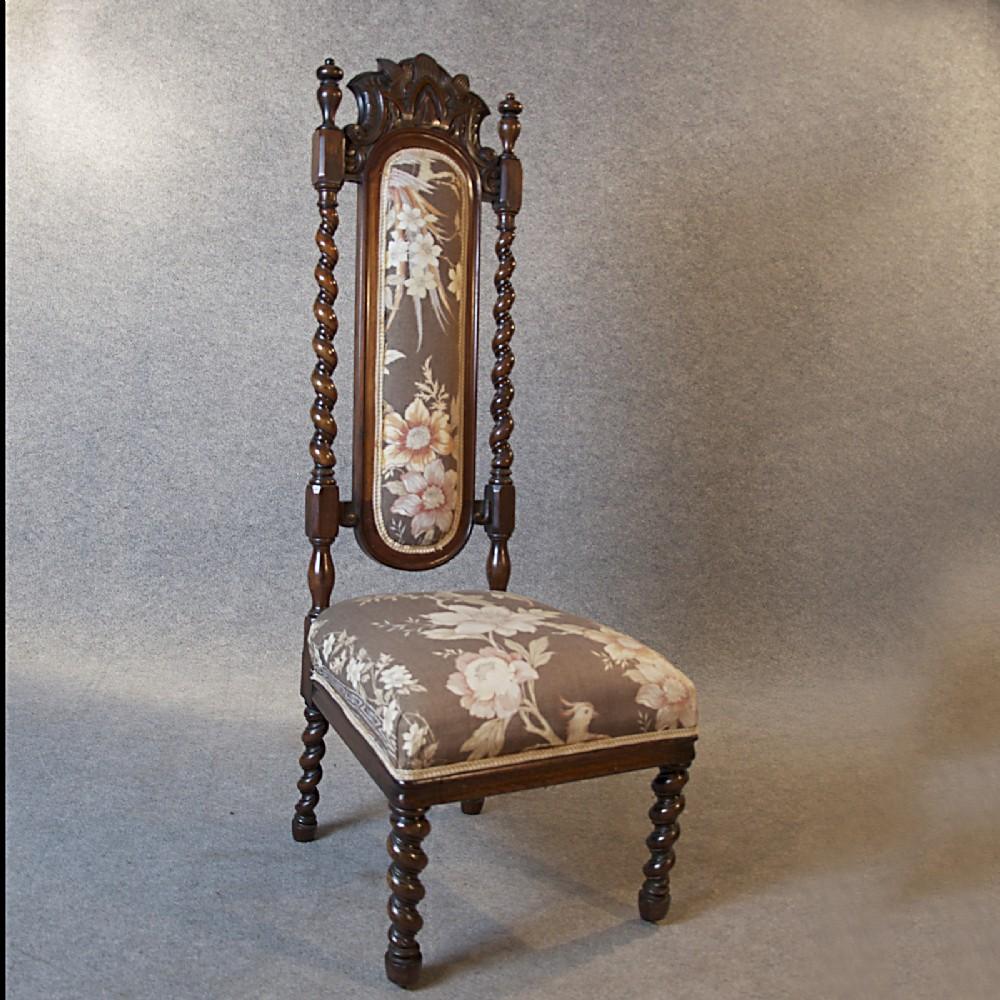 Pair Of English Antique Oak Barley Twist Chairs ... - Imposing Pair Of Antique English Corner Chairs At 1stdibs Early