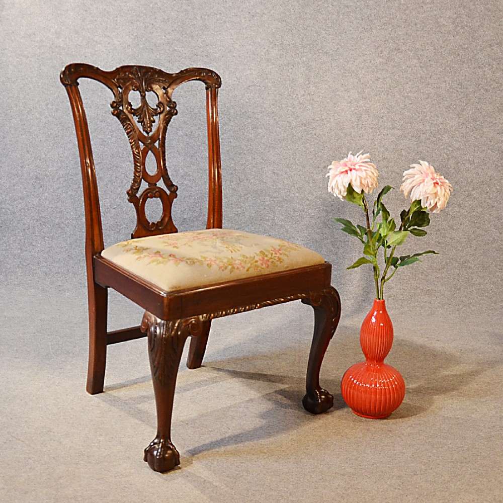 Antique Chair Victorian Chippendale Revival Dining Side