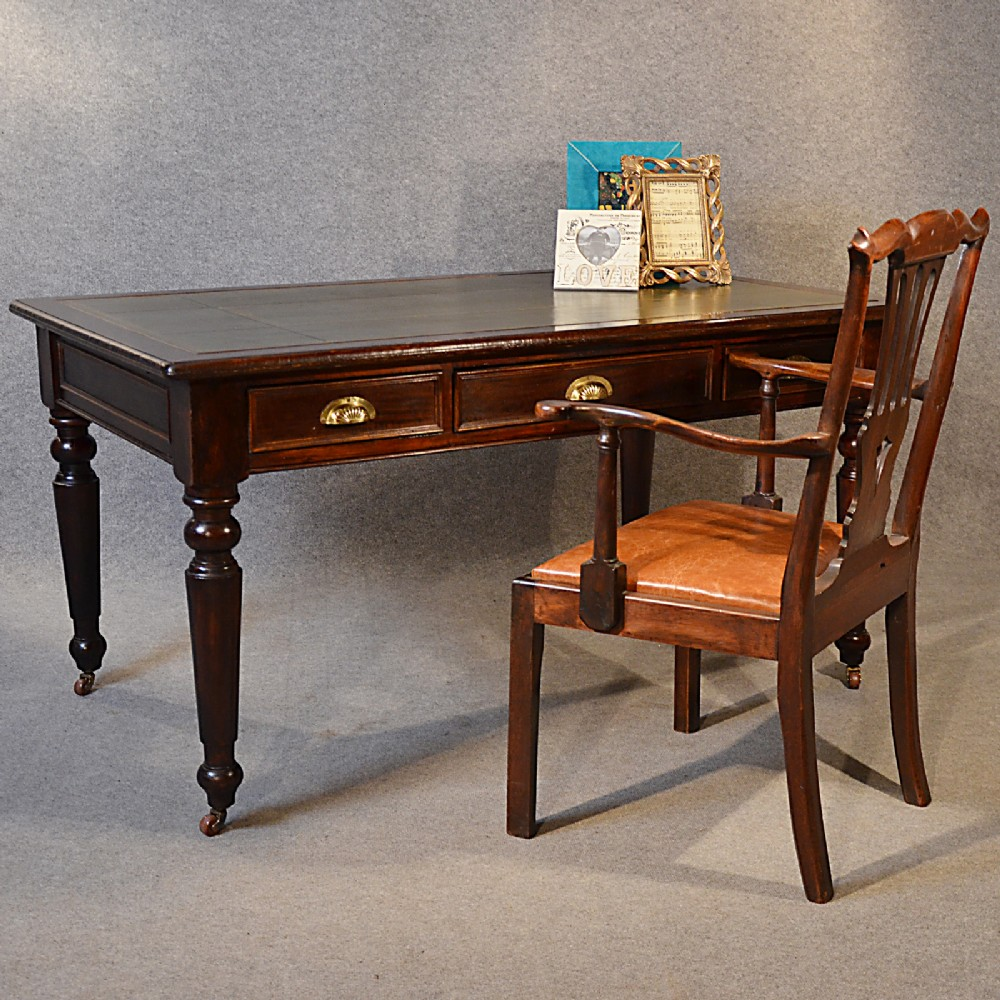 Antique Desk Victorian Large Leather - 286.6KB