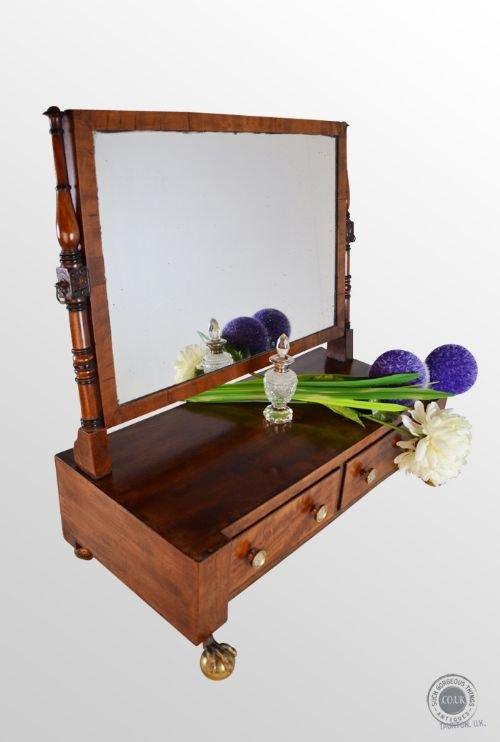antique georgian dressing vanity swing cosmetic toilet mirror antique c1790