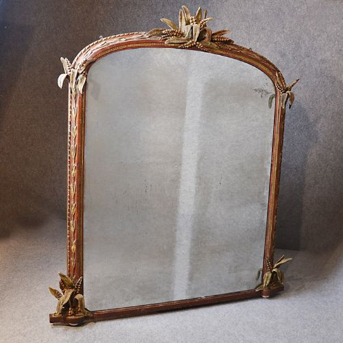antique large wall mirror overmantle ornate regency