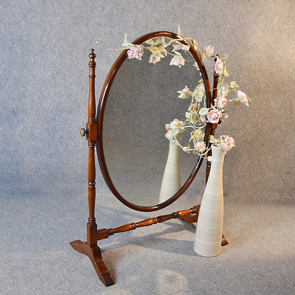 Antique mirror dressing table vanity swing cosmetic for Victorian mirror