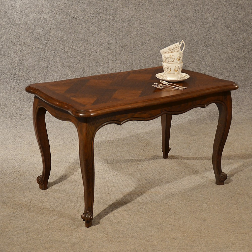 Antique Oak Coffee Table Serving Tea Art Deco Vintage Occasional Table C1930 338167