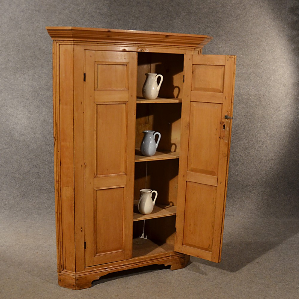Antique Pine Corner Cabinet Cupboard Larder Original
